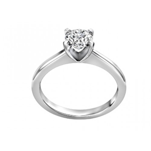 Solitaire ring white gold Canadian Diamond Fire Ice Bijouterie